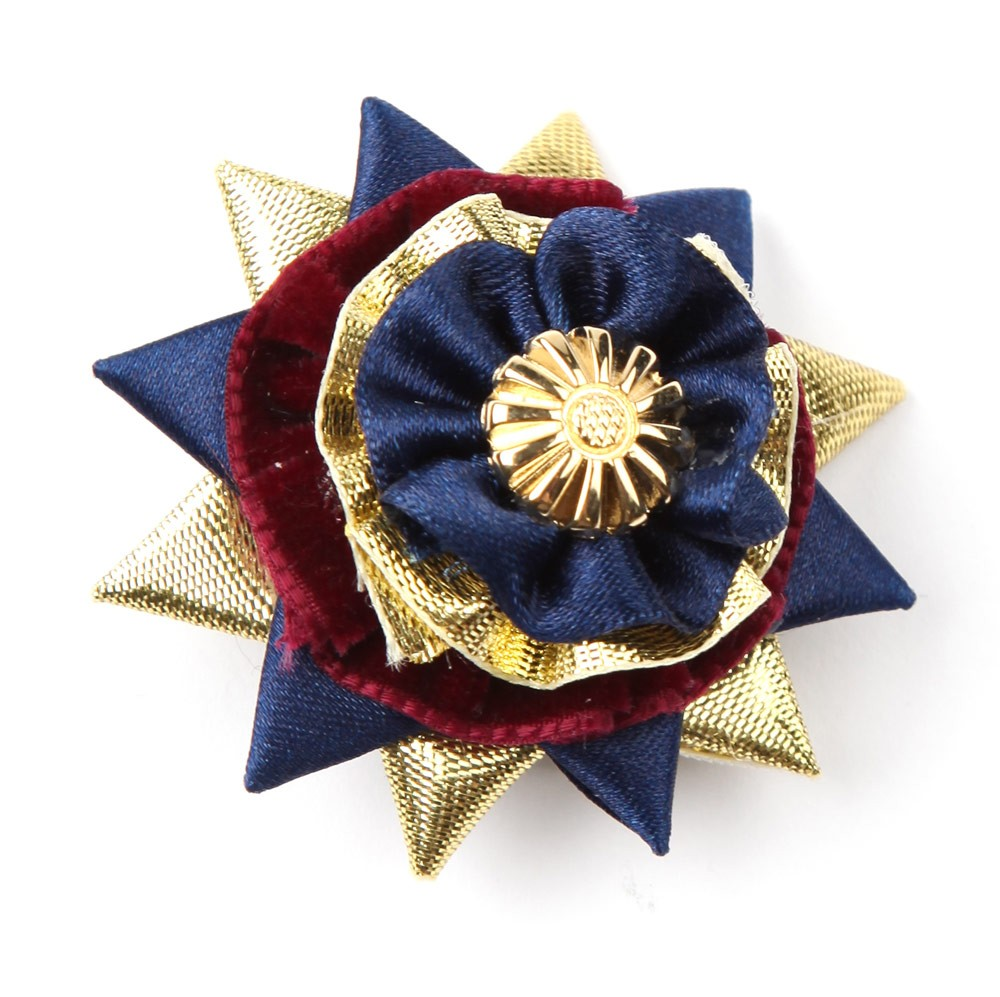 Burgundy/navy/gold Classic Buttonhole.