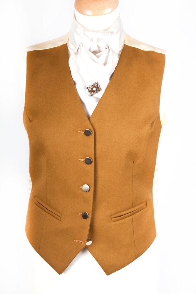 Ladies Plain Beige Waistcoat