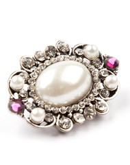 Vintage inspired oval pearl tie pin
