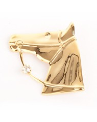 Gold plated horses head