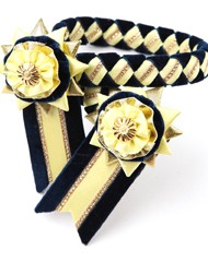 Classic Browband. Navy/Lemon/Gold