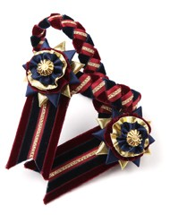 Classic Browband. Burgundy/Navy/Gold