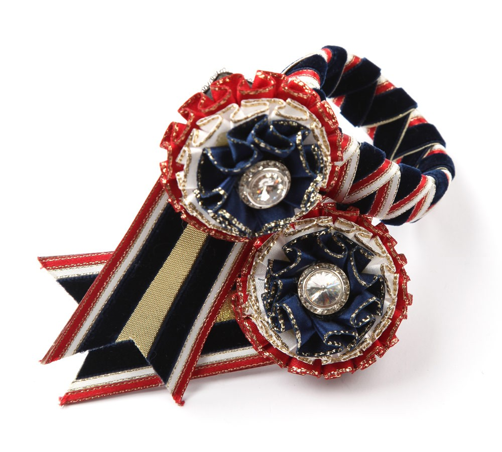Wembley Browband. Red/Navy/White/Gold