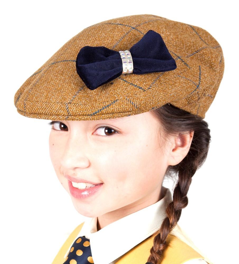Tweed Bow Flat Cap