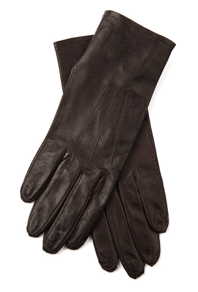 Ladies Leather Showing Gloves