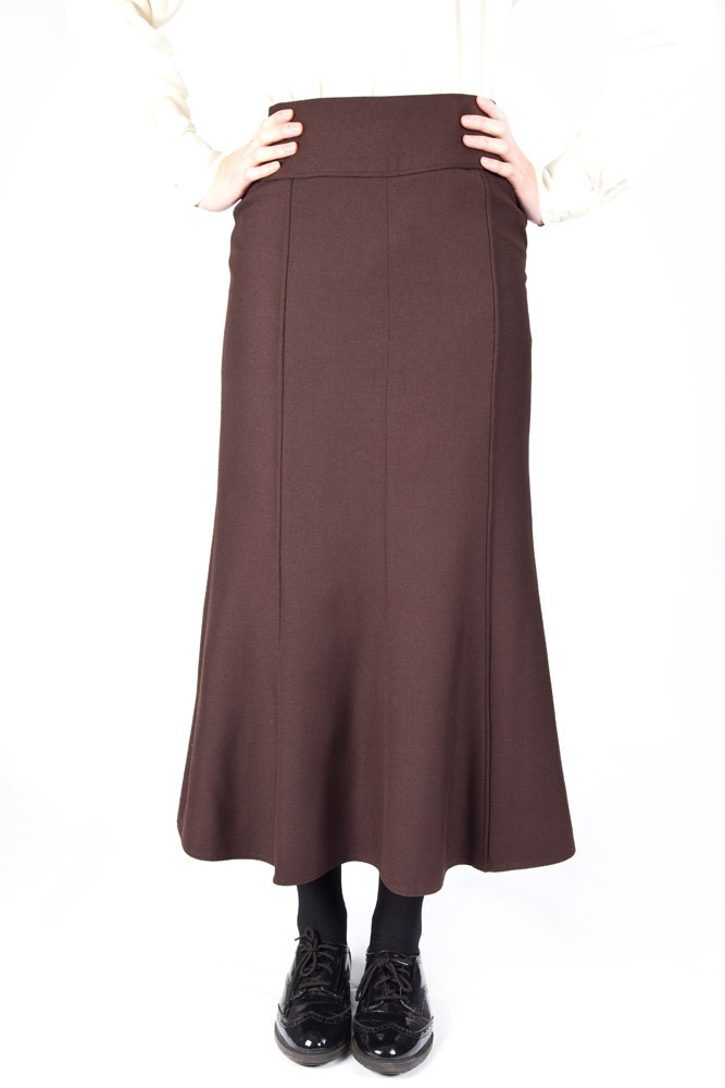 Brown Lead Rein Panelled Skirt