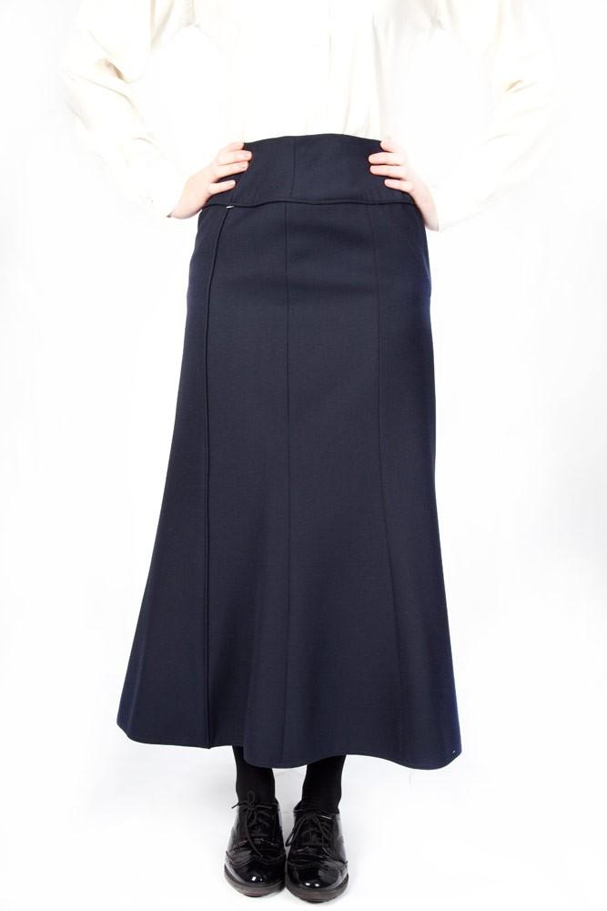 Navy Lead Rein Navy Panelled Skirt