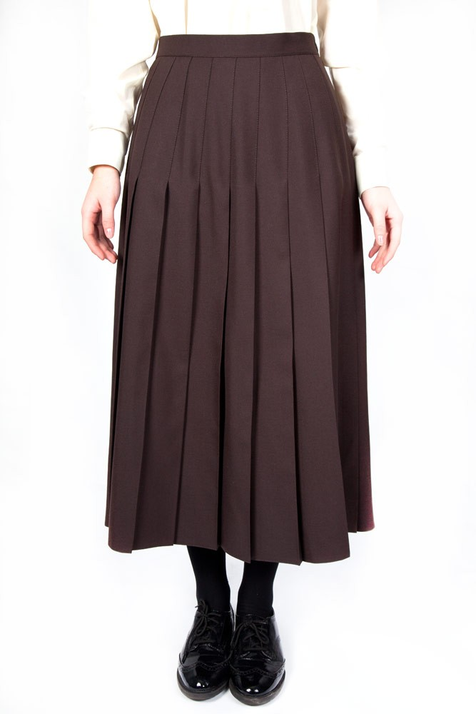 Brown Lead Rein Pleated Skirt