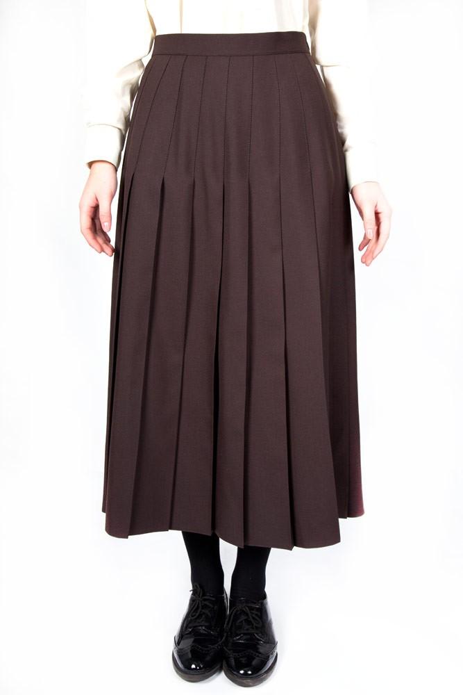 Brown Lead Rein Pleated Skirt