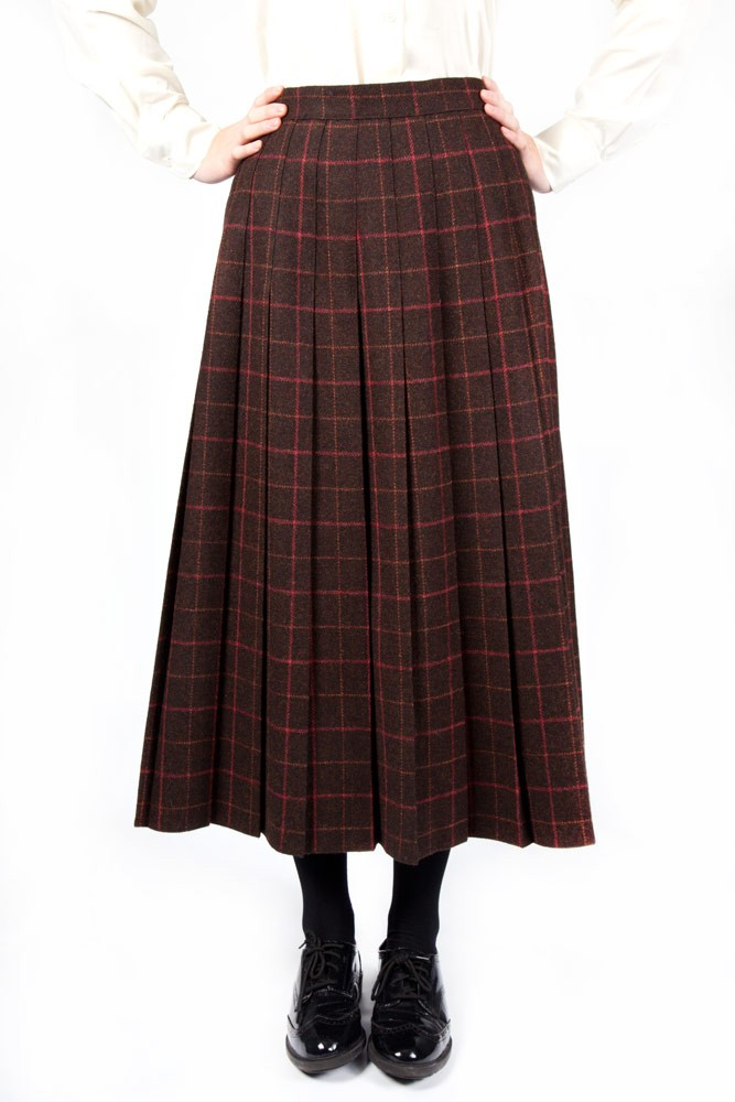 Tweed Lead Rein Pleated Skirt