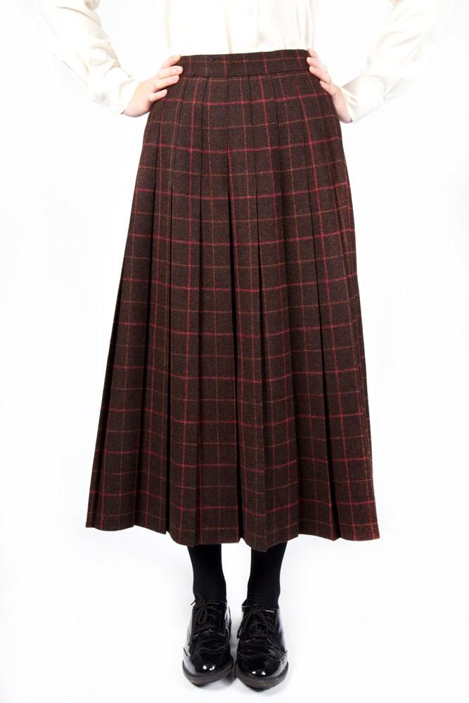 Tweed Lead Rein Pleated Skirt