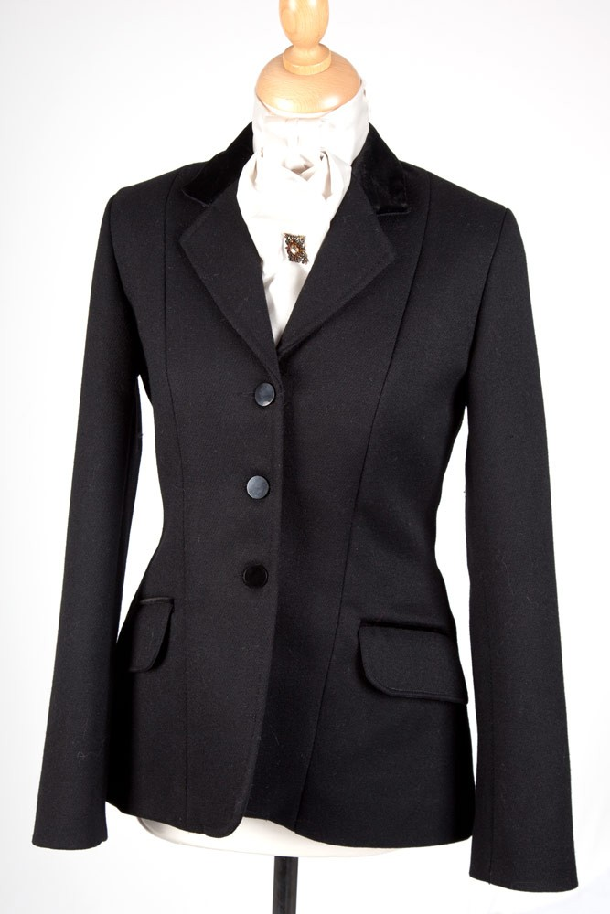 Ladies Heavyweight Navy Riding Jacket