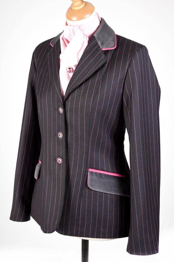 Ladies Pink Pinstripe Show Jumping Jacket