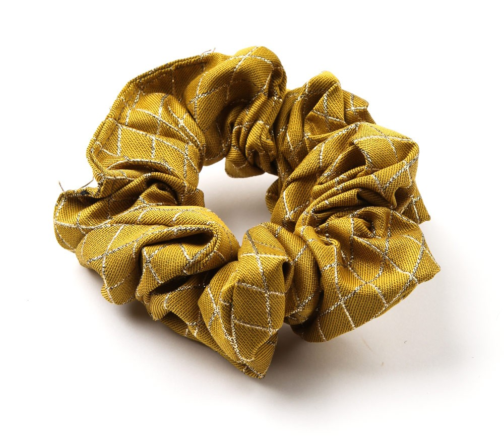 Lurex Diamond Scrunchie