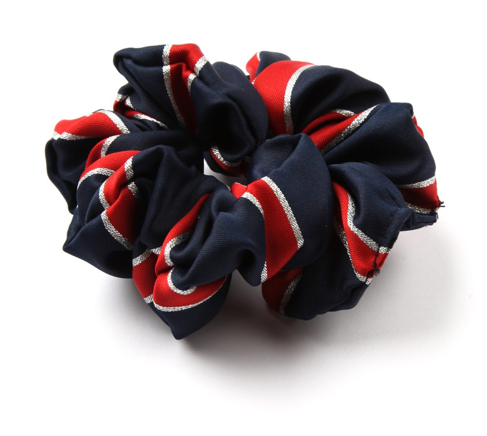 Lurex Stripe Scrunchie