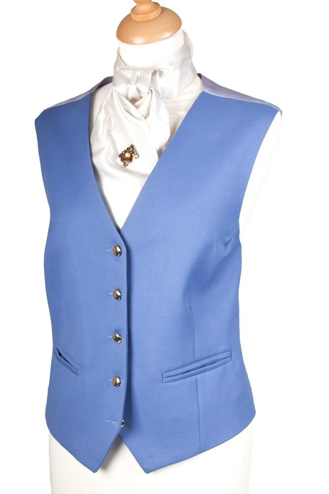 Ladies Plain Cornflower Blue Waistcoat