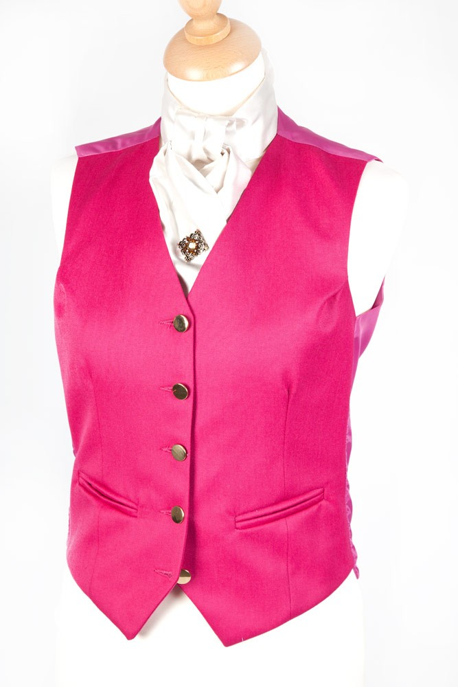 Ladies Plain Pink Waistcoat