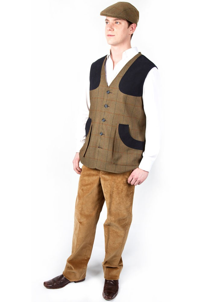 Mens Tweed Shooting Waistcoat (Various Colours)