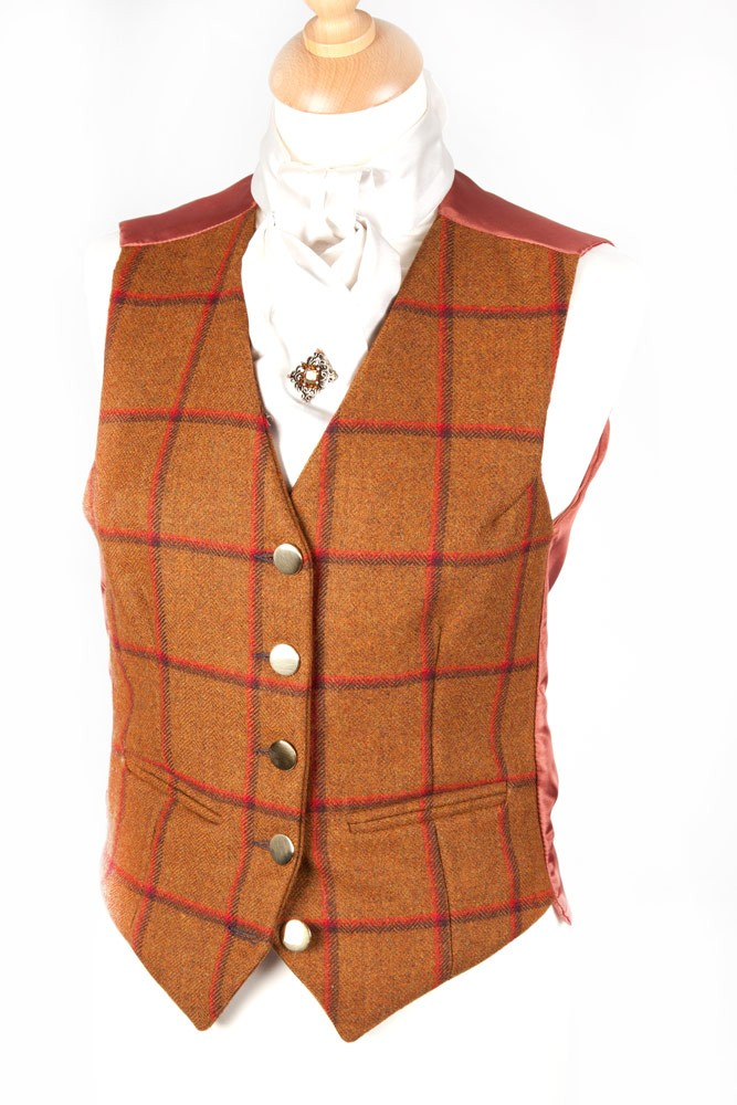 Childrens Tweed Waistcoat